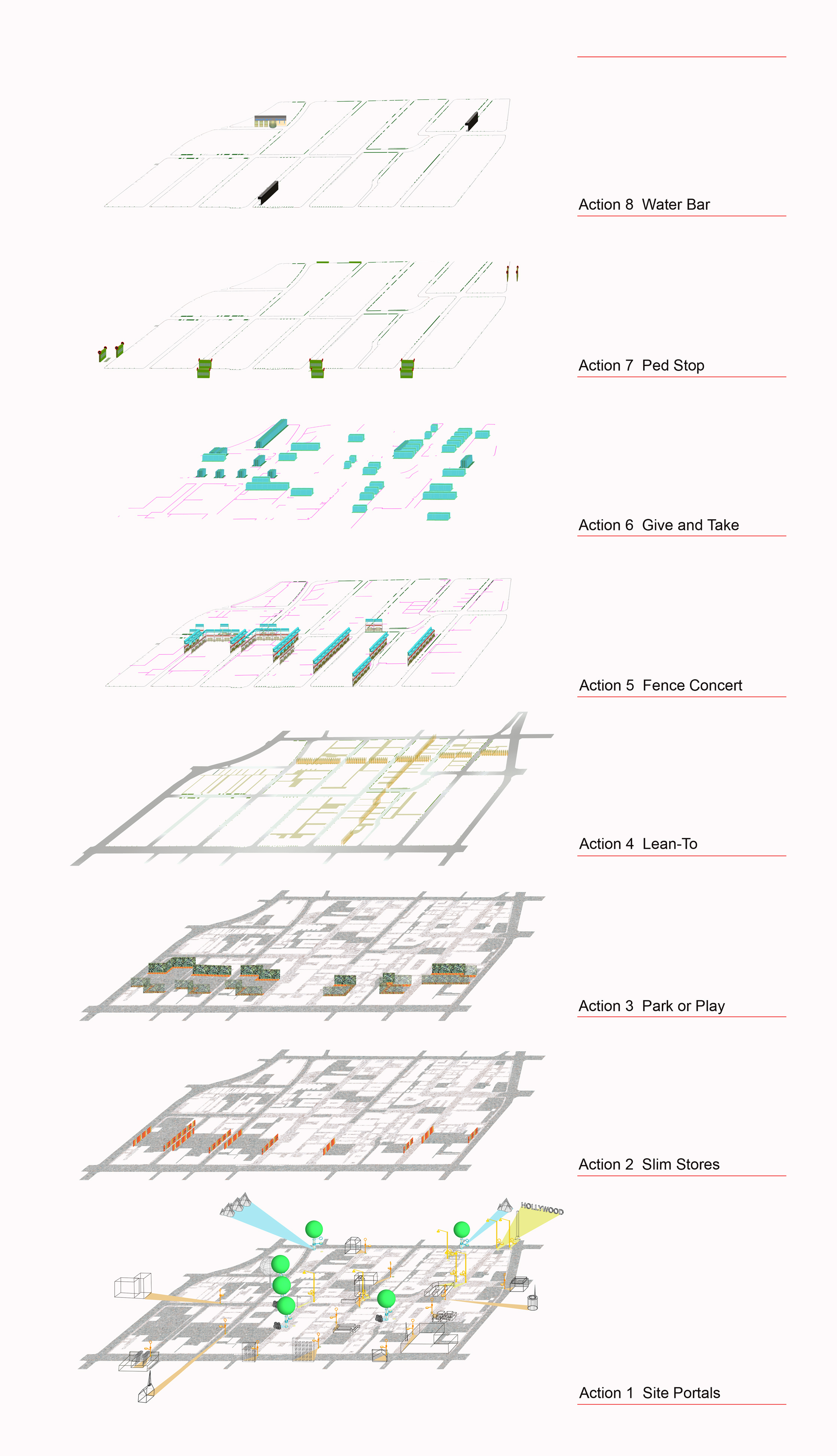 Finding Public Space In the Margins Exploded Axonometric  : Finding Public Space In the Margins Exploded Axonometric Scenarios from urbanrockdesign.com size 2236 x 3887 jpeg 2136kB